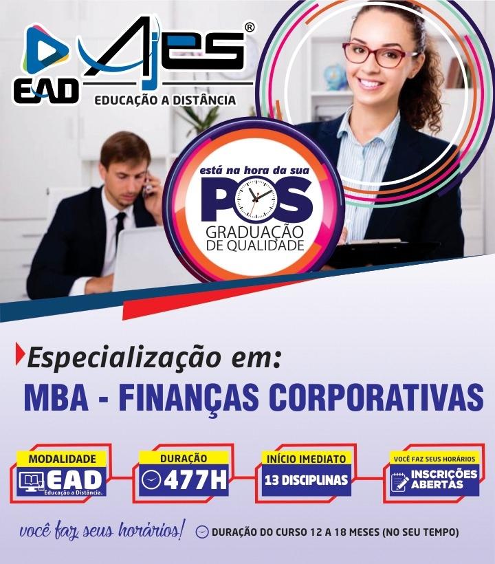Especialização em MBA – FINANÇAS CORPORATIVAS