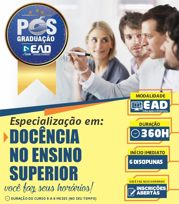 Especialização Docente em DOCÊNCIA NO ENSINO SUPERIOR