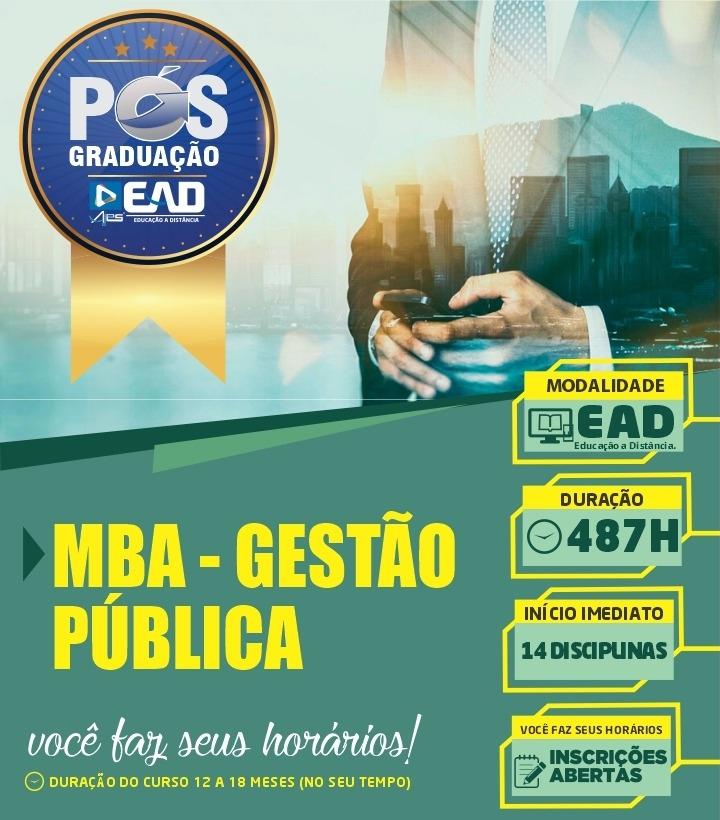 Especialização em MBA – GESTÃO PÚBLICA