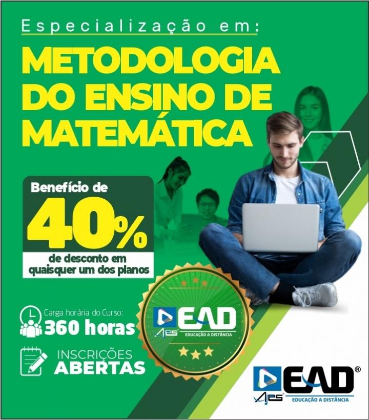 Especialização em Metodologia do Ensino de Matemática