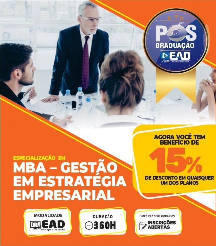 Especialização em MBA – GESTÃO EM ESTRATÉGIA EMPRESARIAL
