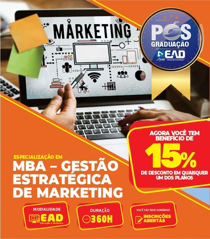 Especialização em MBA – GESTÃO ESTRATÉGICA DE MARKETING
