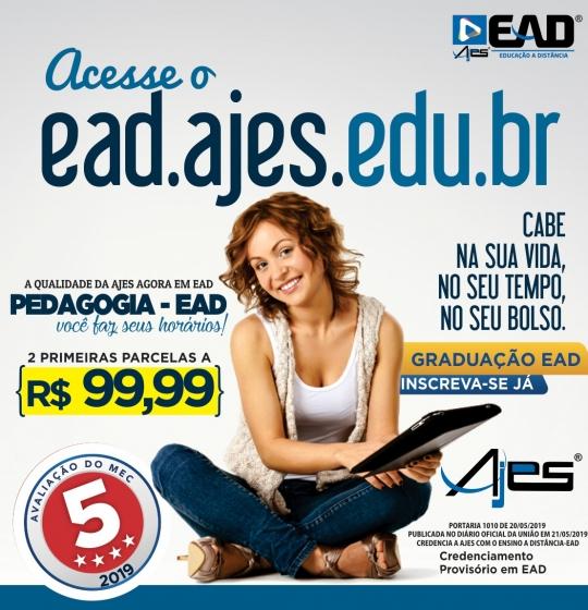 EaD da AJES terá seu início no dia 12 de agosto de 2019